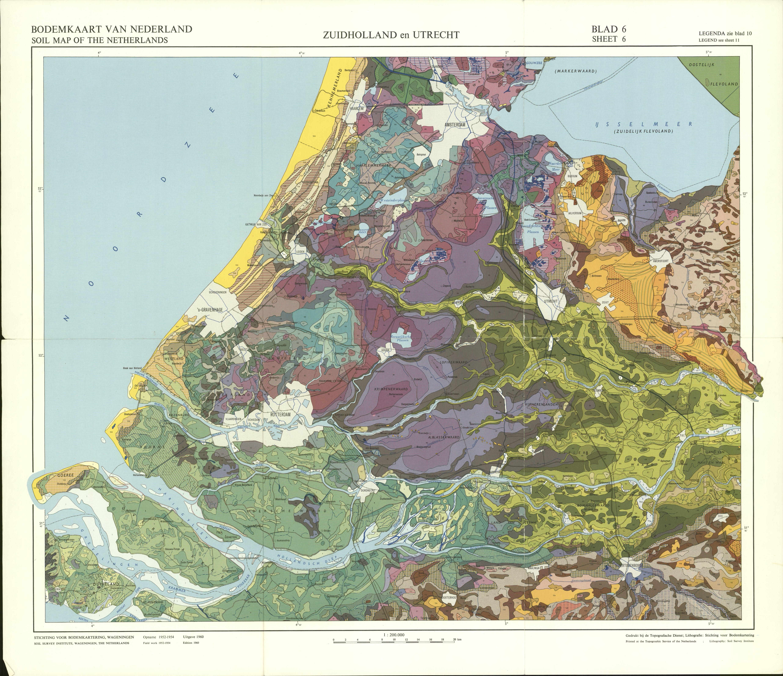 De bodem van Zuid-Holland : toelichting bij blad 6 van de bodemkaart van  Nederland schaal 1:200.000 door C. van Wallenburg